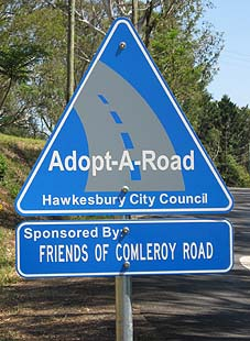 adopt a road - Comleroy Road