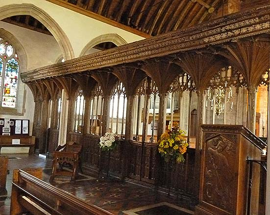 rood screen dunster