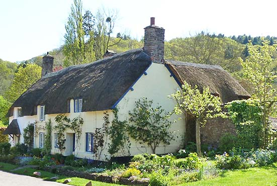 thatched cottage dunster